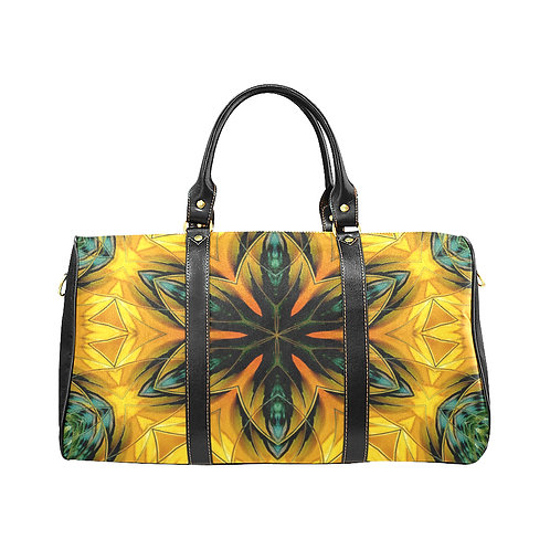 Yellow Kaleidoscope #2 - Waterproof Travel Bag