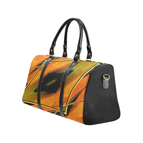 Yellow Kaleidoscope #8 - Waterproof Travel Bag