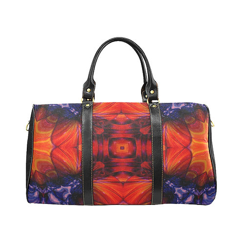Red Kaleidoscope #5 - Waterproof Travel Bag