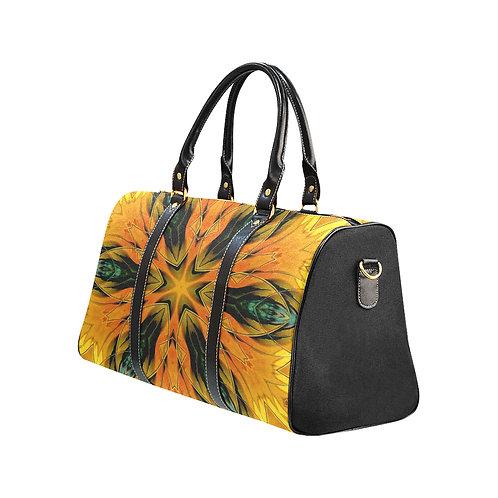 Yellow Kaleidoscope #1 - Waterproof Travel Bag