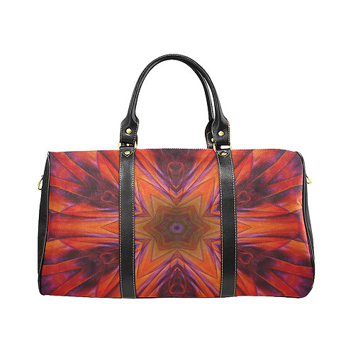 Red Kaleidoscope - Waterproof Travel Bag