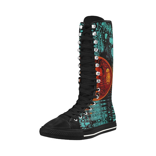 Turquoise Tall Boots
