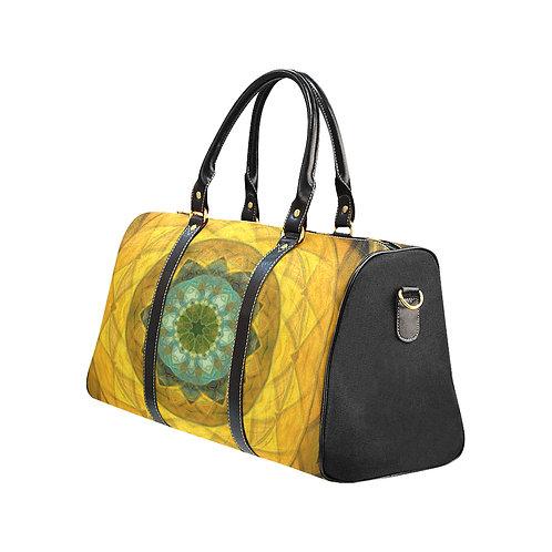 Yellow Kaleidoscope #4 - Waterproof Travel Bag
