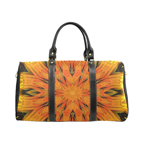 Yellow Kaleidoscope #7 - Waterproof Travel Bag