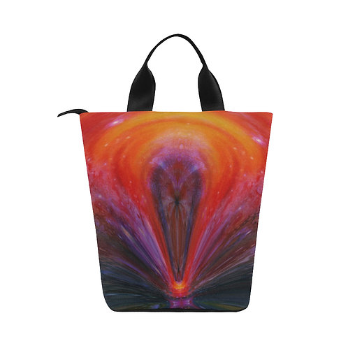 Red Galaxy -  Nylon Lunch Tote