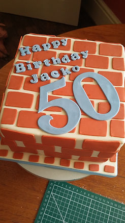 brickwork birthday cake