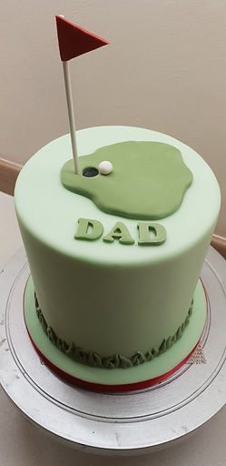 Dad Golf Birthday Cake