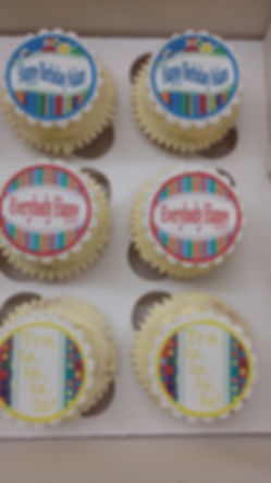 Birthday Message Cupcakes