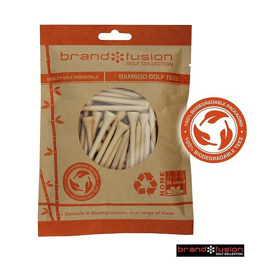 Biodegradable BAMBOO Golf Tees 69mm x 50