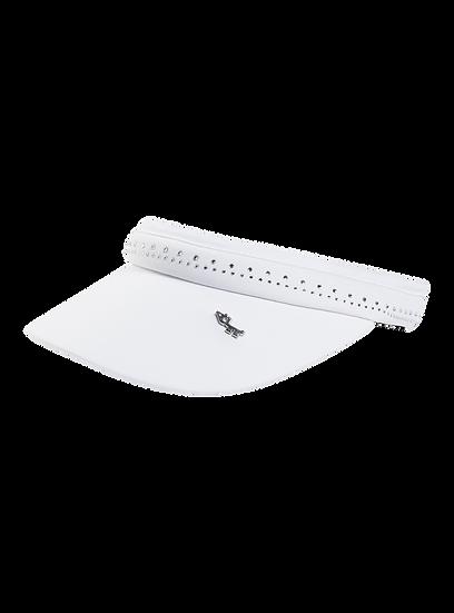 Crystal Clip-on Visor White