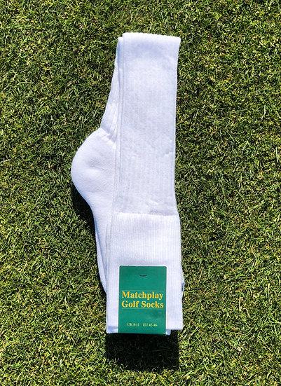 Mens Knee Length Stockings - White