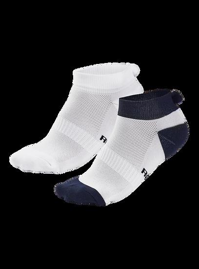 Pom Pom Sock 2 Pack Navy & White