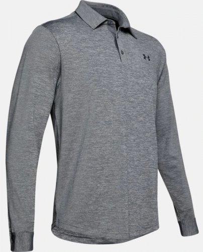 Men's UA Playoff 2.0 Long-Sleeve Polo Grey