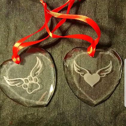 Tree Hangers Memory Hearts