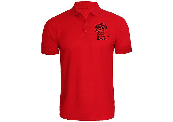 RED PERSONALISED POLO SHIRT