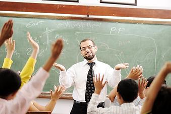 Interaction between teacher and children