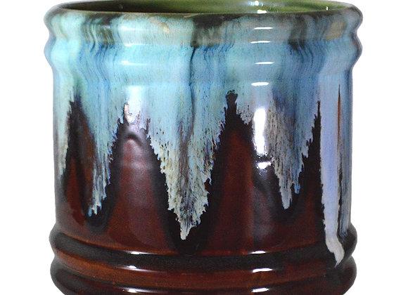 UrbanRoots Barrel Ceramic Pot (6 inch)