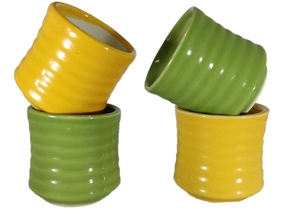 Succulent Pot Horizontal Ridges (3 inch)