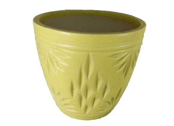 UrbanRoots Engraved Glass Shape Ceramic Pot (4.5 inch)