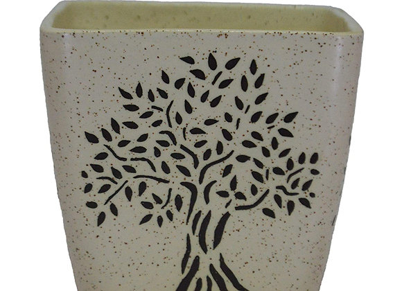 UrbanRoots Square Ceramic Pot (6 inch)