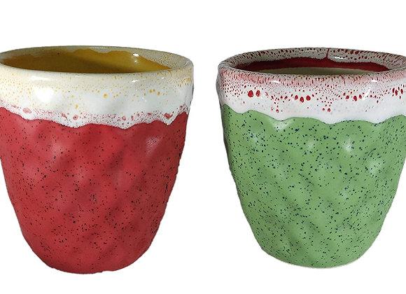UrbanRoots Diamond Texture Ceramic Pot (4 inch) (Combo)