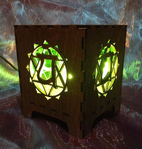 Heart Chakra Lamp | www.laser.scot/solsticelaserdesigns (hand ...