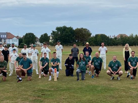 Run Free team up with Southend & EMT cricket club