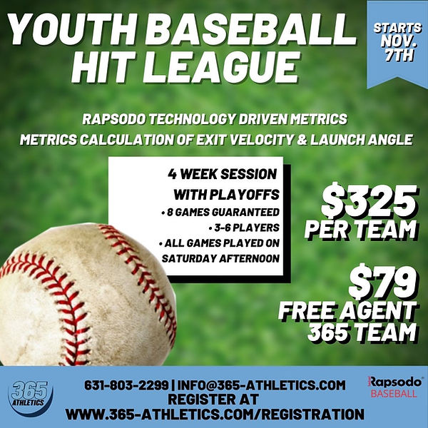 Social Media Youth Basebal Hit league no