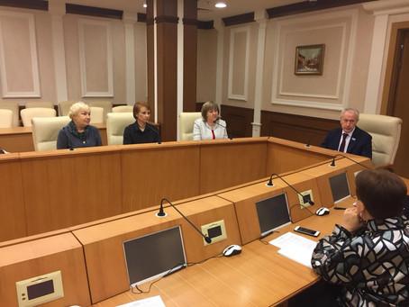 Рабочая встреча у Председателя комитета по социальной политике Законодательного собрания СО