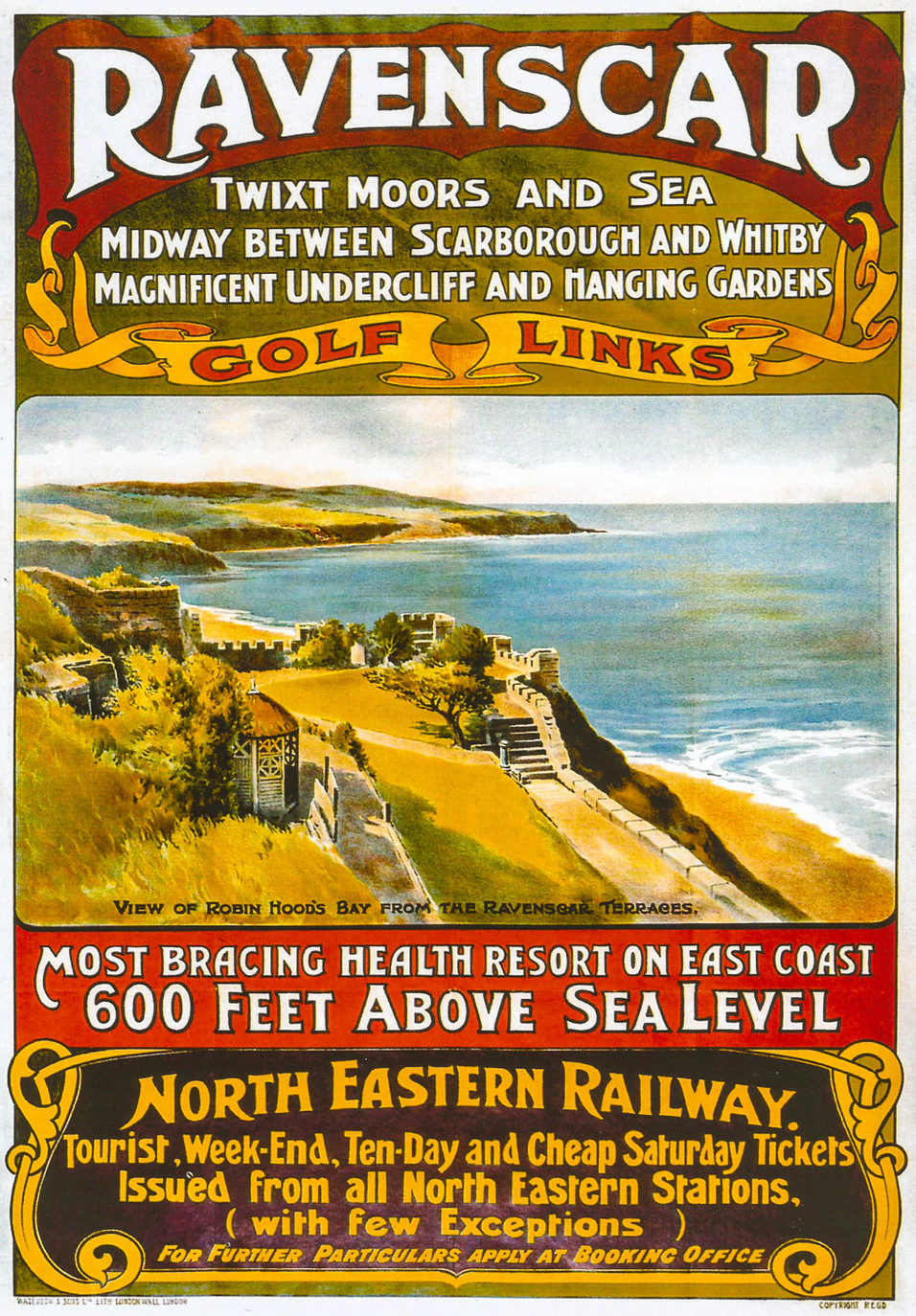 Ravenscar 1930 Poster NER