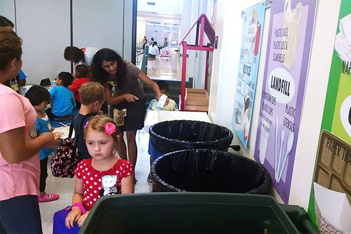 CHCCS elementary, middle school students compost their lunch
