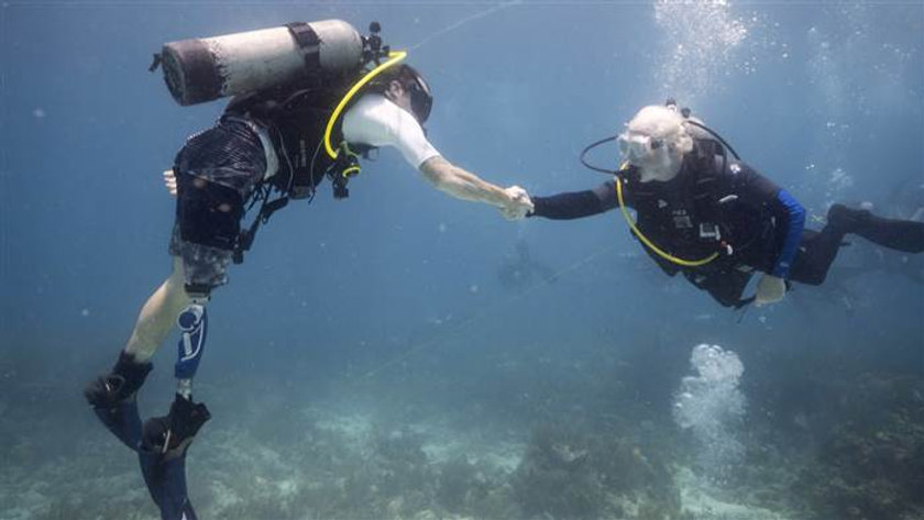 Wounded veterans find new purpose in saving the Florida coral reef