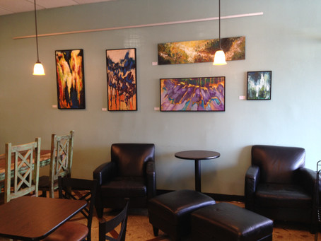 Art display at Trianon Cafe on Bee Caves