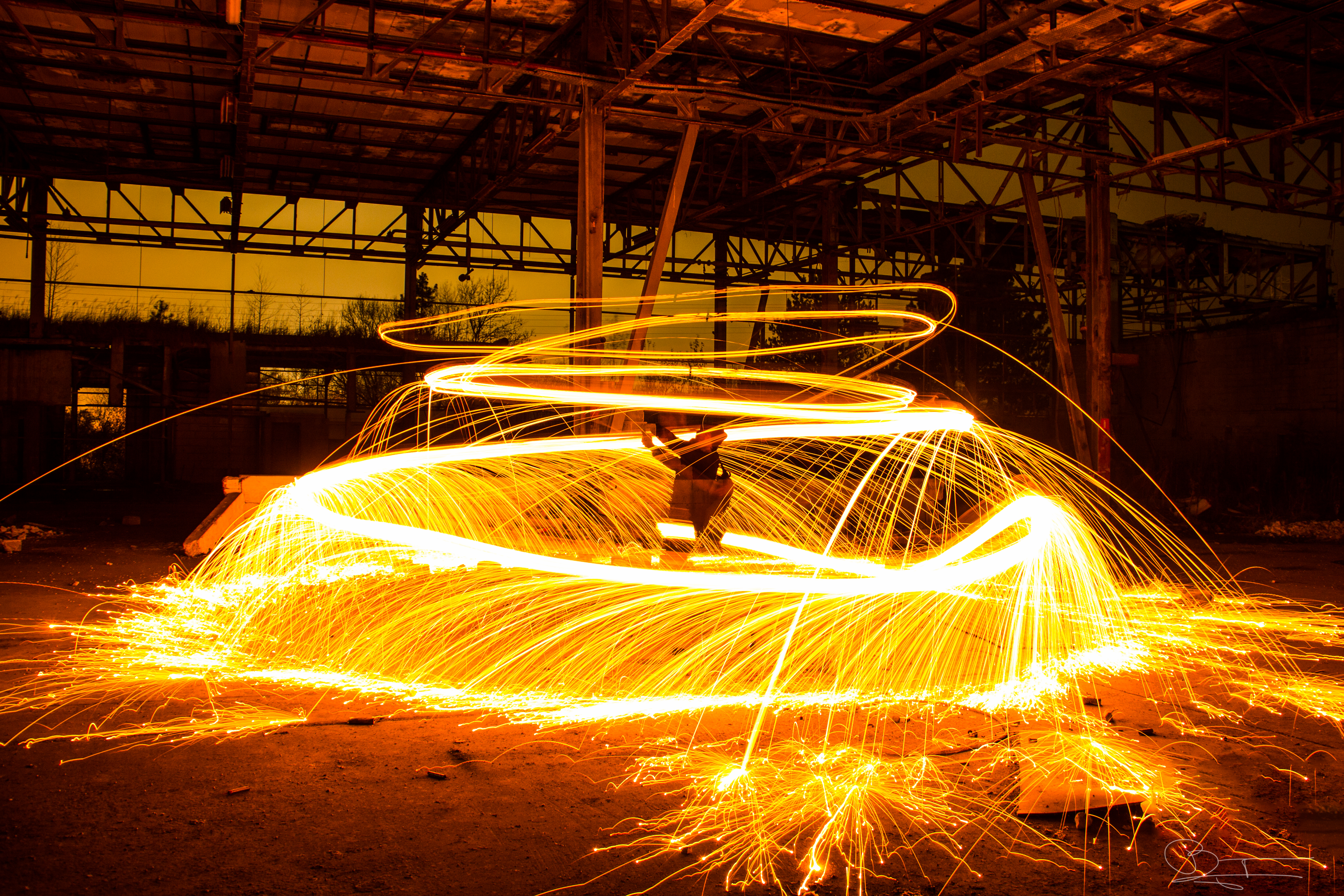 Sparks in Factory