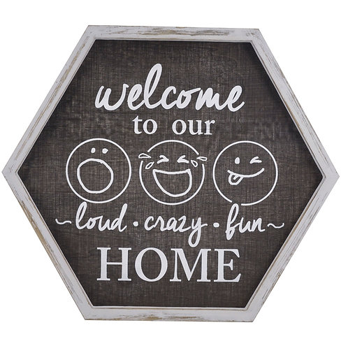 Welcome To Our Home Wall Sign