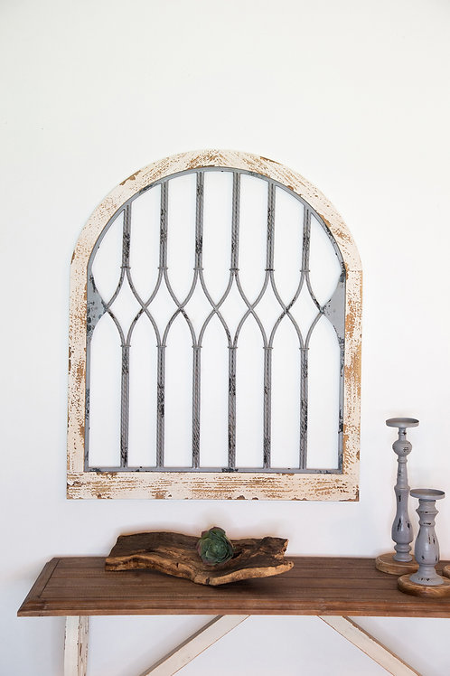 Distressed Arch with Metal Insert