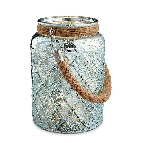 Blue Mercury Jar with Lights