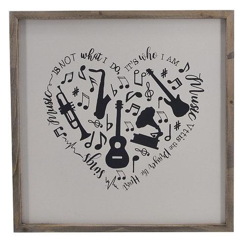 Heart Shape Musical Wall Décor