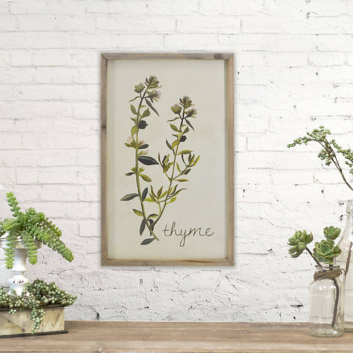 Rectangle Thyme Wall Sign