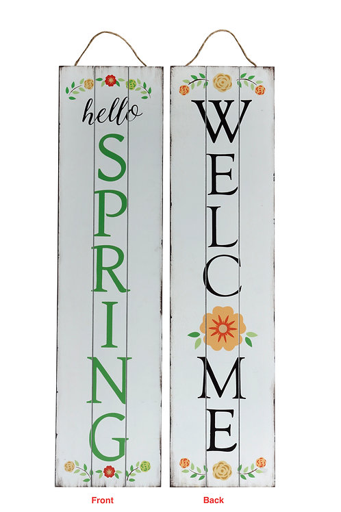 Welcome Spring Reversible Porch Sign