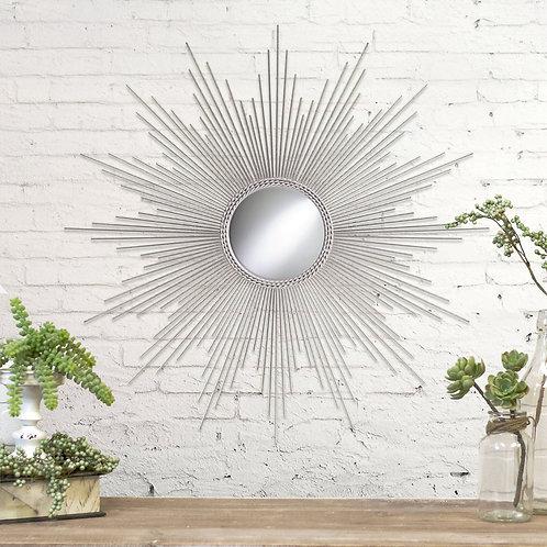 """32"""" Sunburst Silver Mirror"""