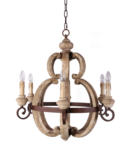 Skylar wood and metal sphere chandelier home decor united states our skylar sphere chandelier is a beautiful piece to punctuate the area above your countertop or kitchen table crafted of carved wood and metal aloadofball Choice Image