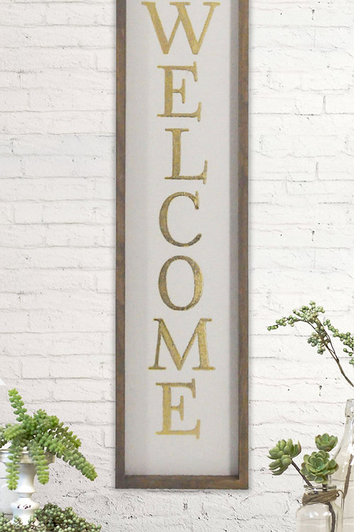 Welcome Verticle Wall Sign