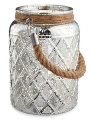 Silver Mercury Jar with Lights