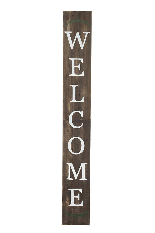 "Welcome 72"" Porch Sign Brown"
