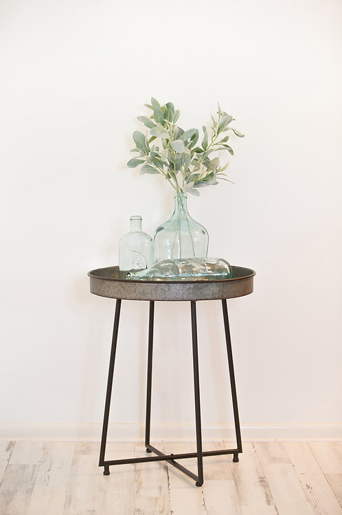 Galvanized Occasional Tray Table