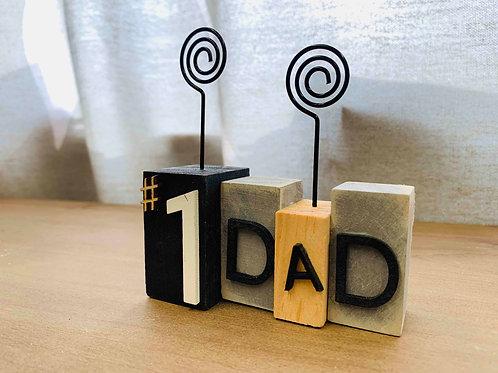 #1 Dad Photo Holder