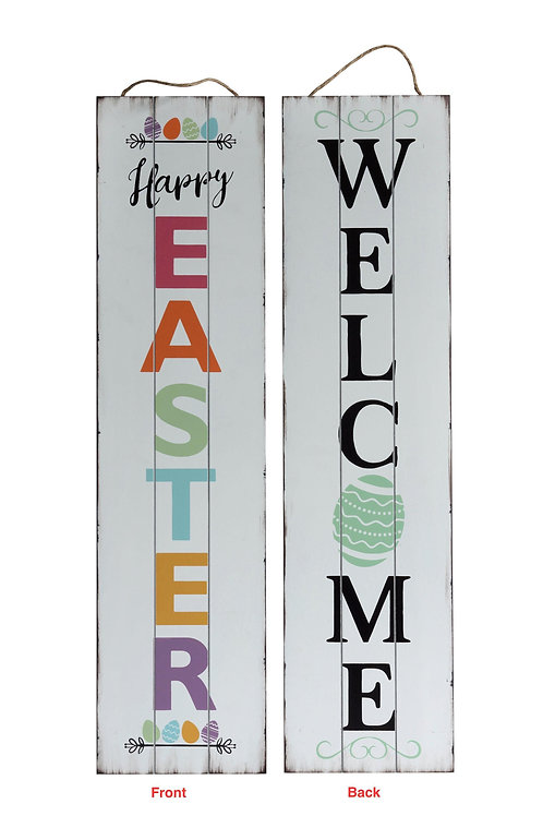Welcome Easter Reversible Porch Sign