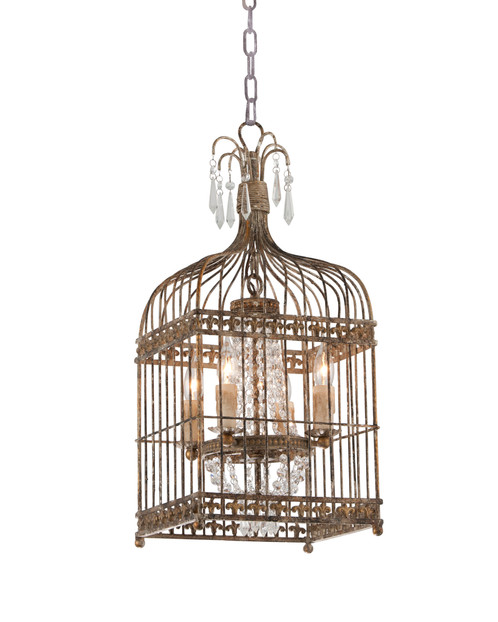 Gabriel bird cage chandelier our gabriel chandelier features an intricate metal bird cage design enveloping a beautifully ornate traditional chandelier creating a visually impressive aloadofball
