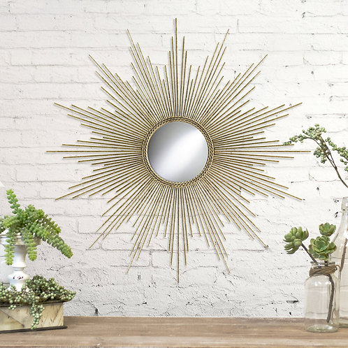 "32"" Sunburst Gold Mirror"